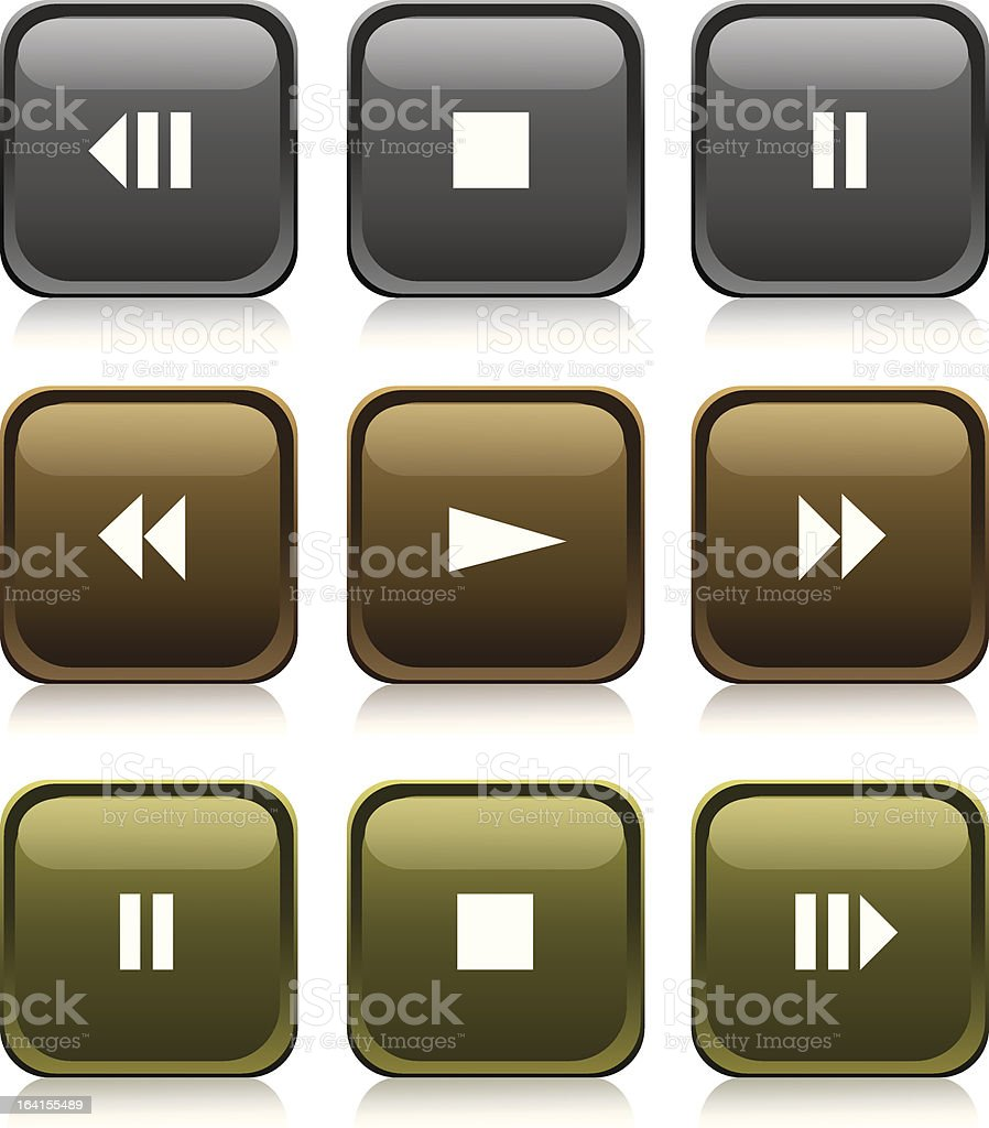 'Medals Series' - media buttons royalty-free stock vector art
