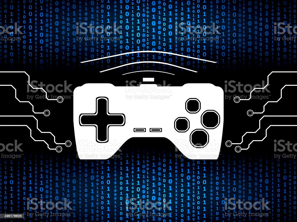 Media and games digital concept royalty-free stock vector art
