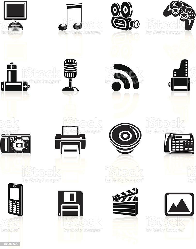 Media Icons - Black Series royalty-free stock vector art