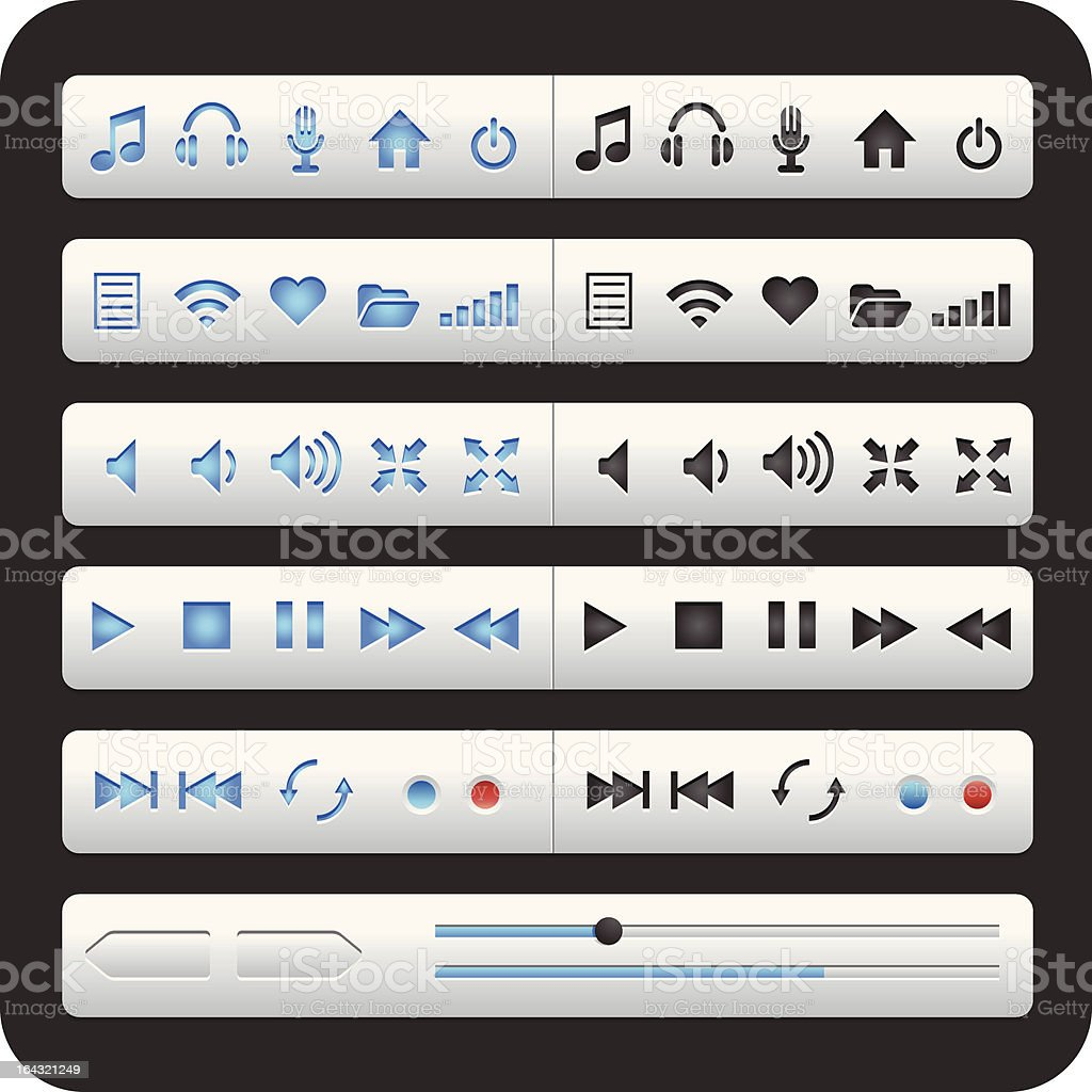 Media Interface vector art illustration