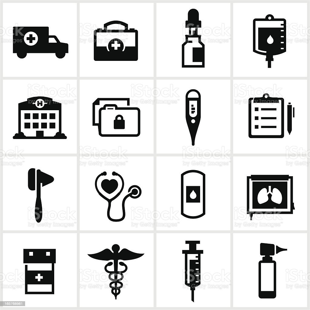 Medical and Healthcare Icons vector art illustration