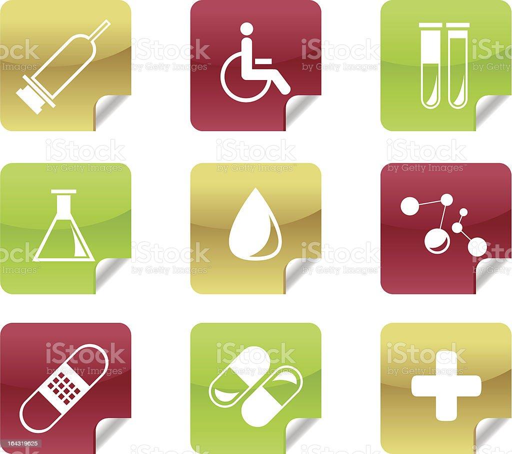 Medical and Hospital Icons / Symbols royalty-free stock vector art