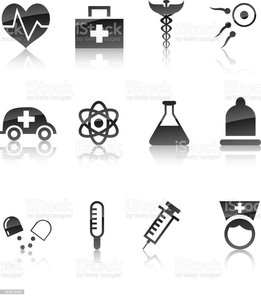 Medical icon set. royalty-free stock vector art