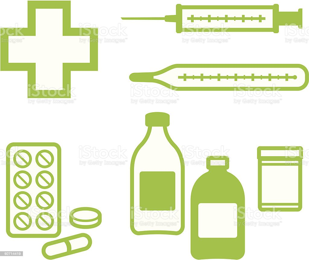 Medical Items – Vector illustration royalty-free stock vector art
