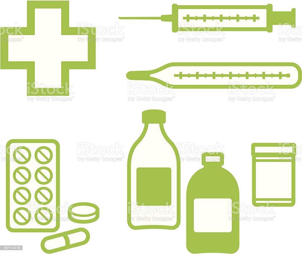 Medical Items – Vector illustration vector art illustration