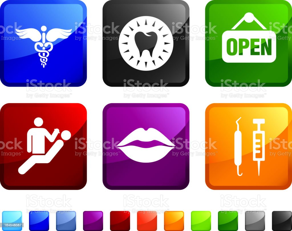 Medical Office royalty free vector icon set stickers royalty-free stock vector art
