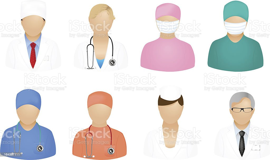 Medical People Icons royalty-free stock vector art