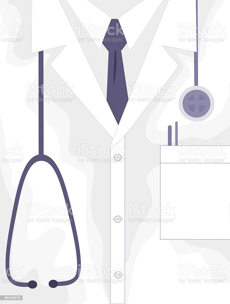 Medical Professional Lab Jacket royalty-free stock vector art