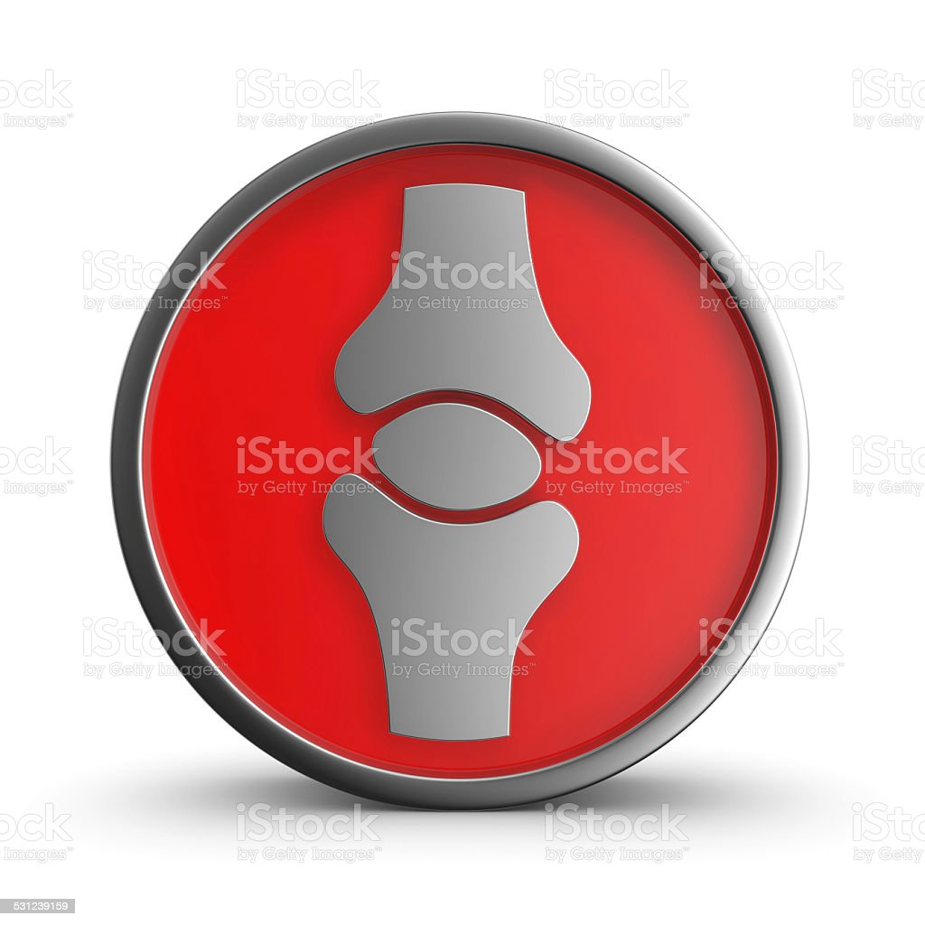 Medical sign joint. royalty-free stock vector art