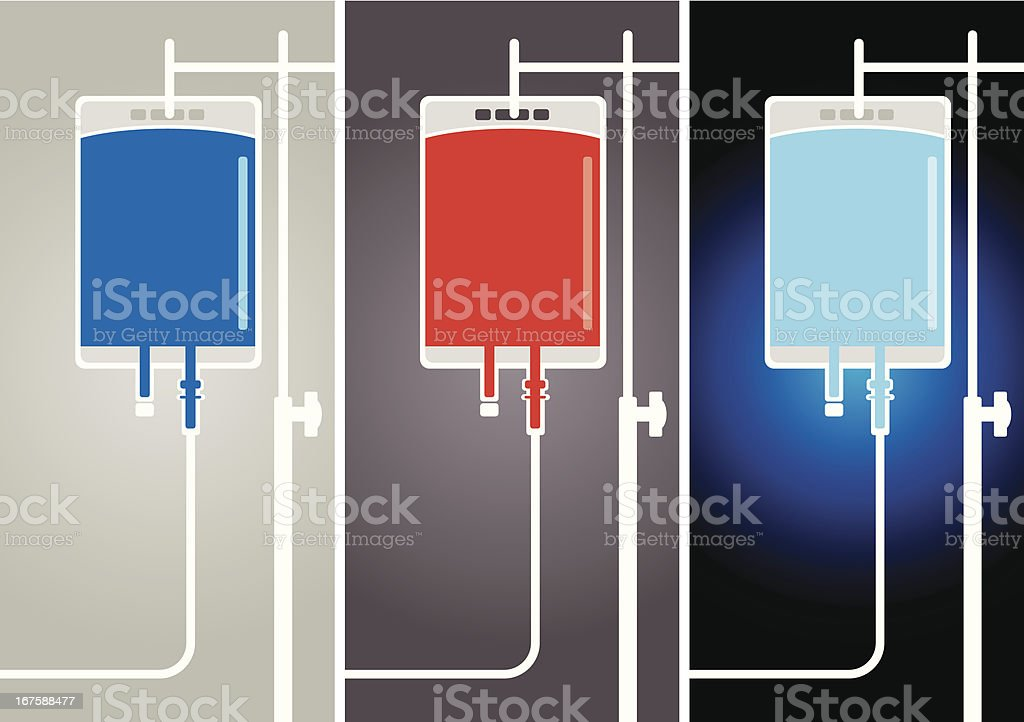 Medical Solution Bags royalty-free stock vector art