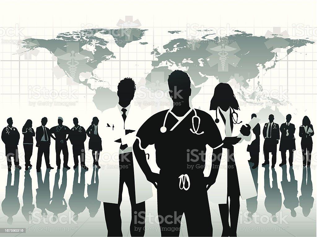 Medical Triage Team vector art illustration