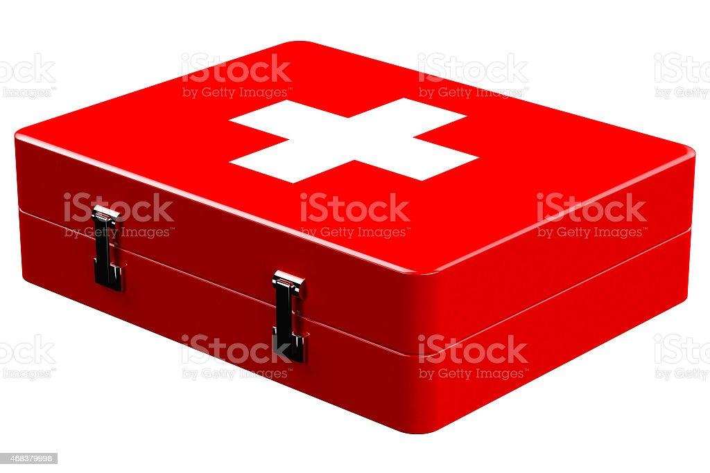 Medicine chest vector art illustration