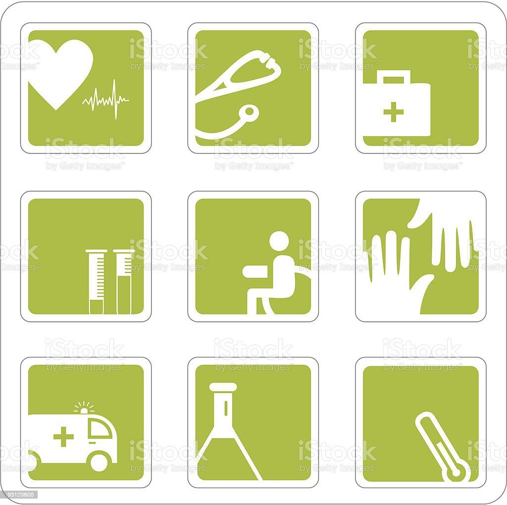 Medicine icons set royalty-free stock vector art