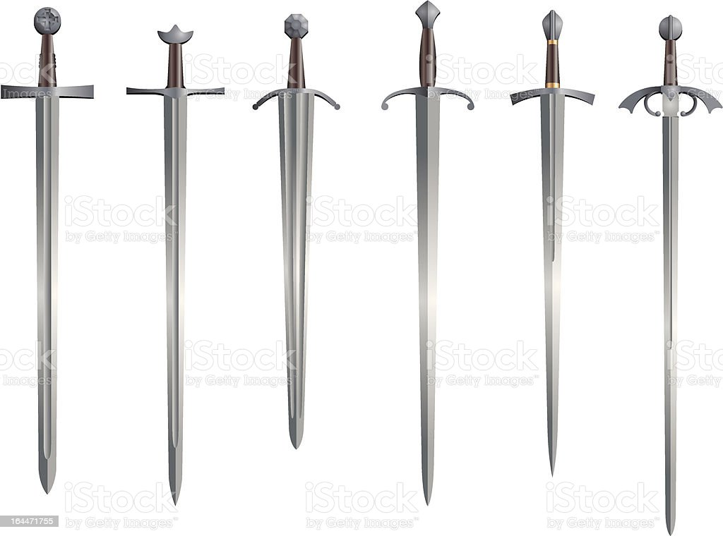Medieval Arming Swords vector art illustration