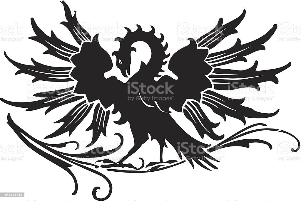 Medieval eagle royalty-free stock vector art