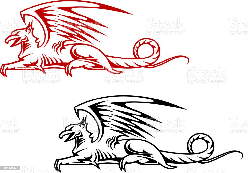 Medieval griffin monster royalty-free stock vector art