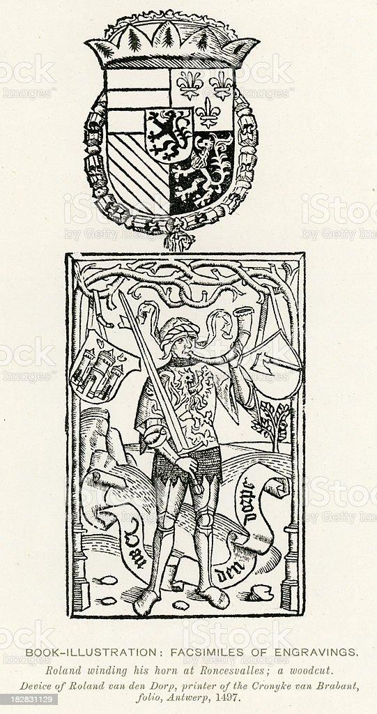 Medieval Illumination Roland royalty-free stock vector art