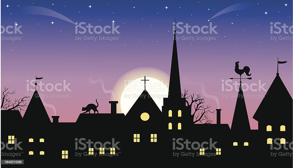 Medieval  town. royalty-free stock vector art