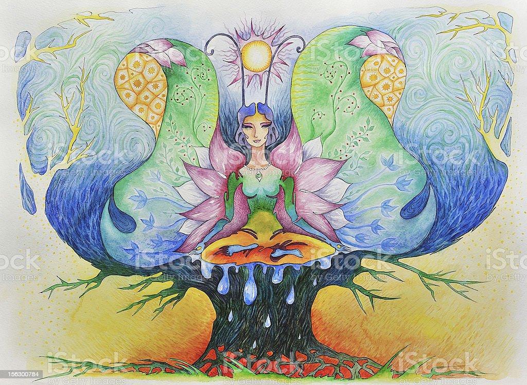 Meditation. royalty-free stock vector art