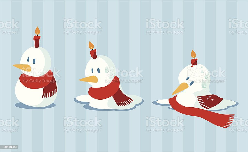 melting snowman royalty-free stock vector art