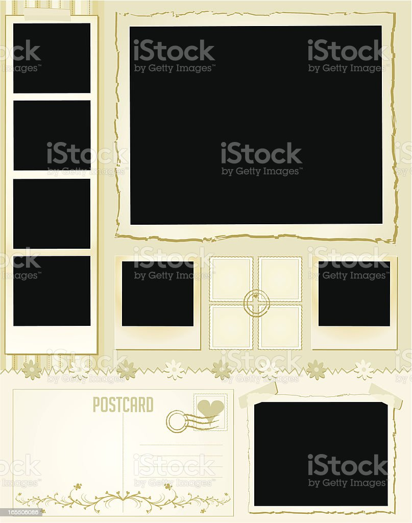 Memory Page | Tranquil Memories vector art illustration