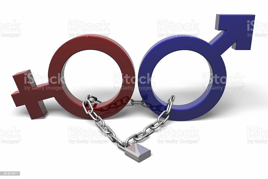 Men and Women in Chains royalty-free stock vector art