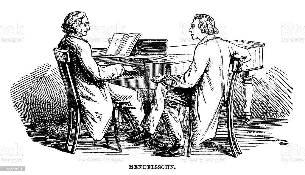 Mendelssohn vector art illustration