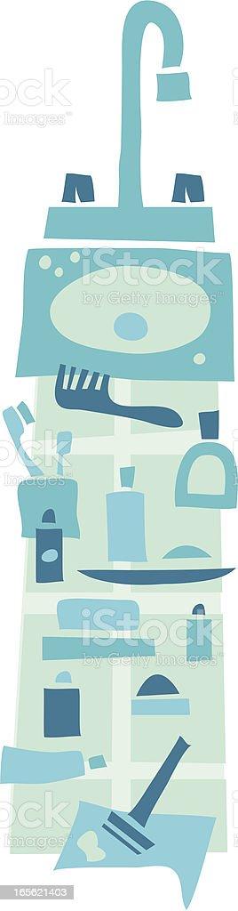 Men's bathroom royalty-free stock vector art