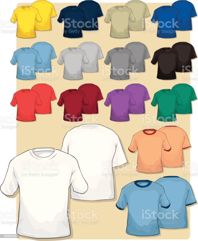 Mens Short-Sleeved T-Shirts royalty-free stock vector art