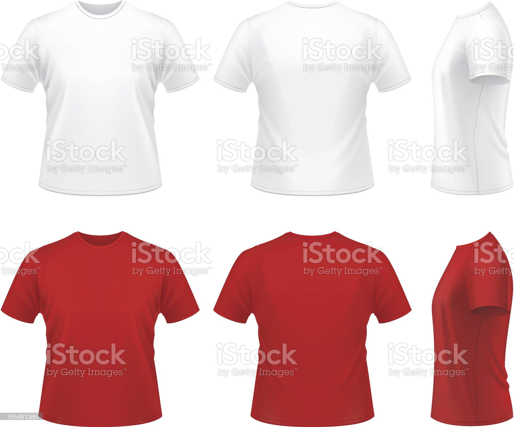 Men's T-shirt royalty-free stock vector art