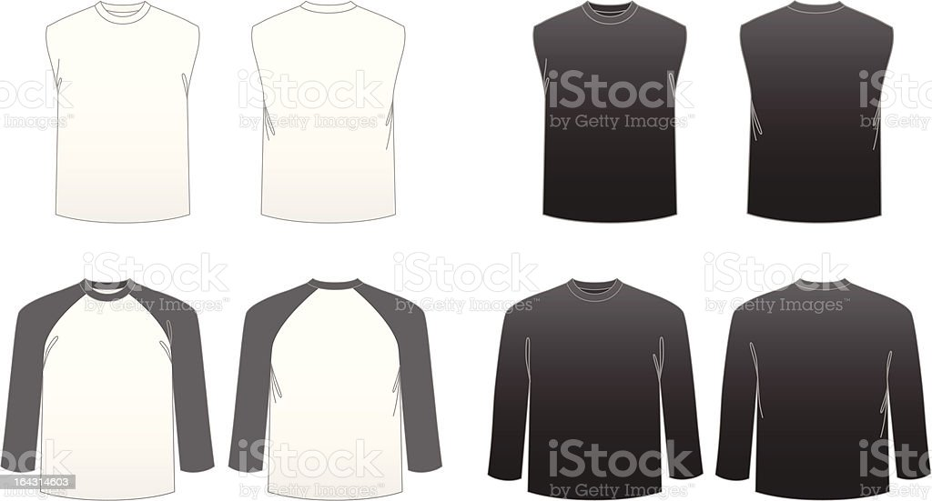 Men's T-shirt Templates-Series 3 royalty-free stock vector art