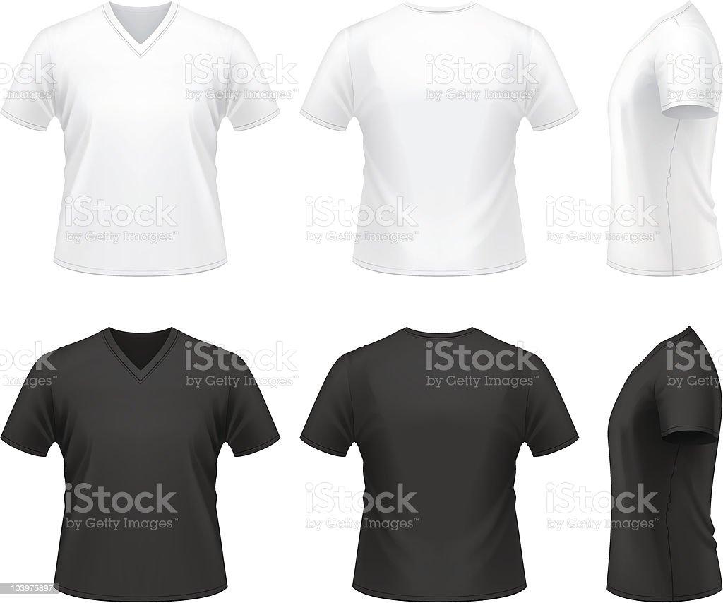 Men's V-neck t-shirt royalty-free stock vector art