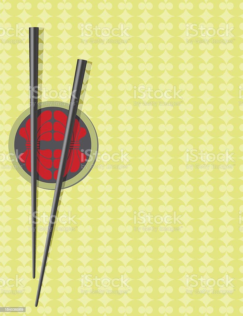 Menu card for oriental restaurant vector art illustration