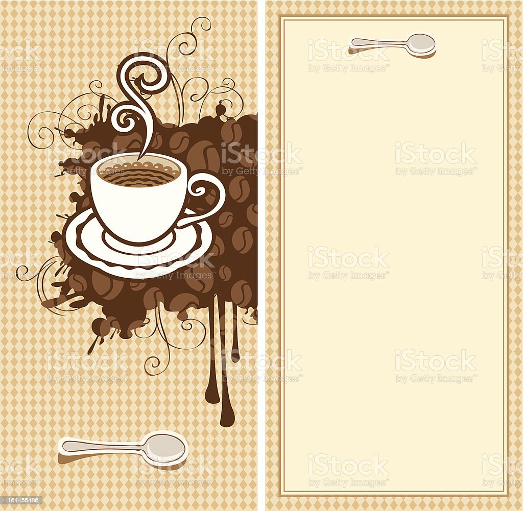 Menu for Cafe royalty-free stock vector art