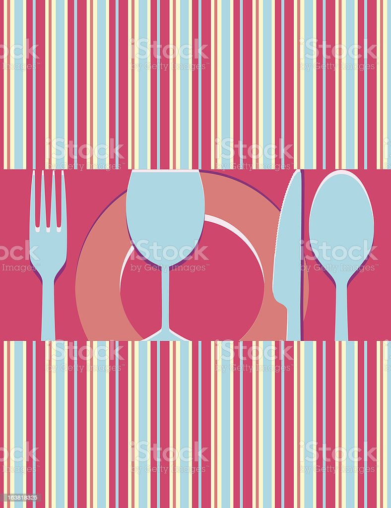 Menu or restaurant card royalty-free stock vector art