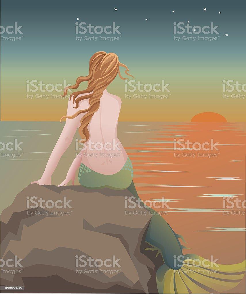 Mermaid royalty-free stock vector art