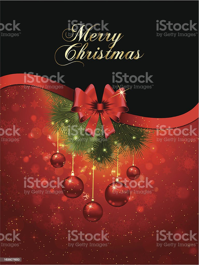 Merry Christmas background royalty-free stock vector art
