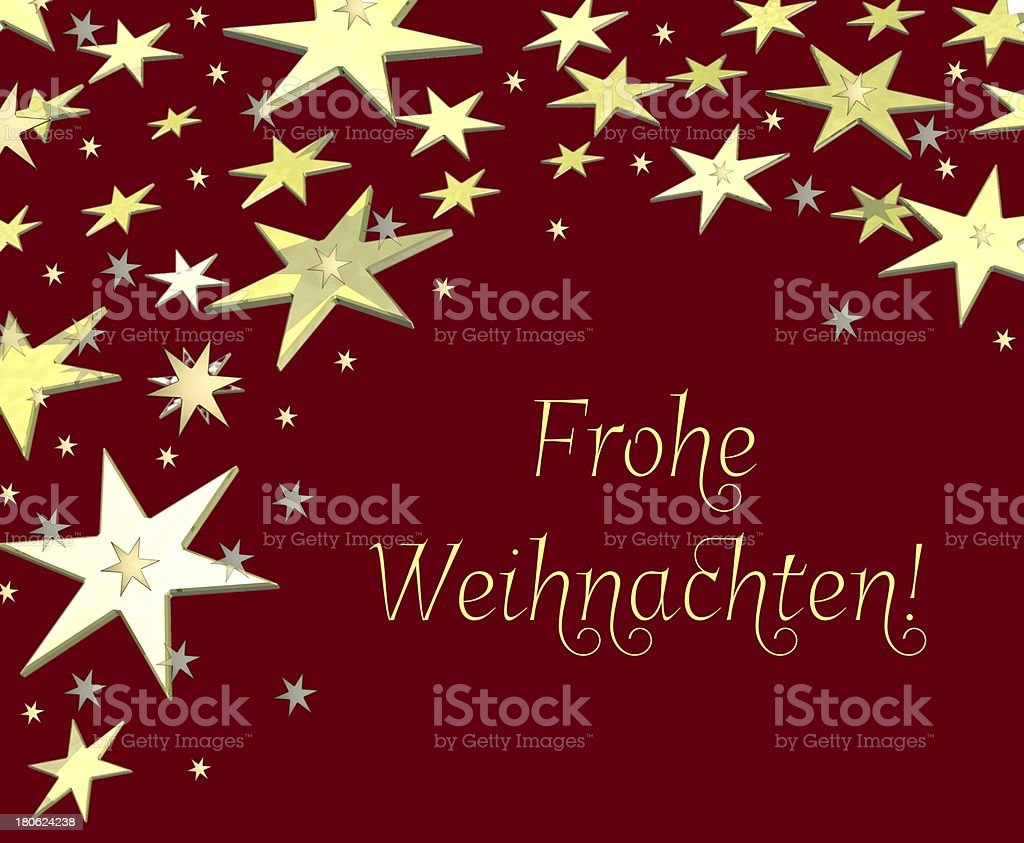 Frohe Weihnachten - Merry Christmas in german royalty-free stock vector art