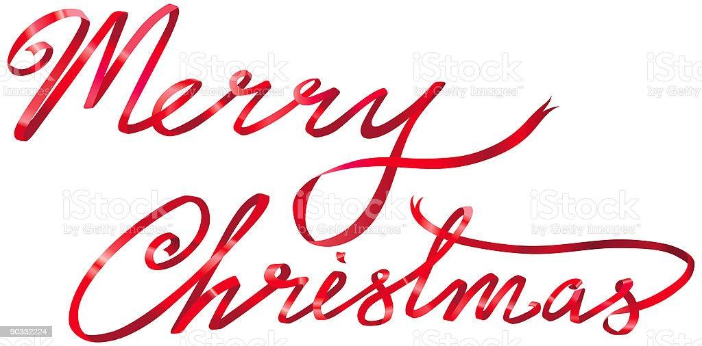 Merry Christmas Ribbon (jpg and vector) royalty-free stock vector art