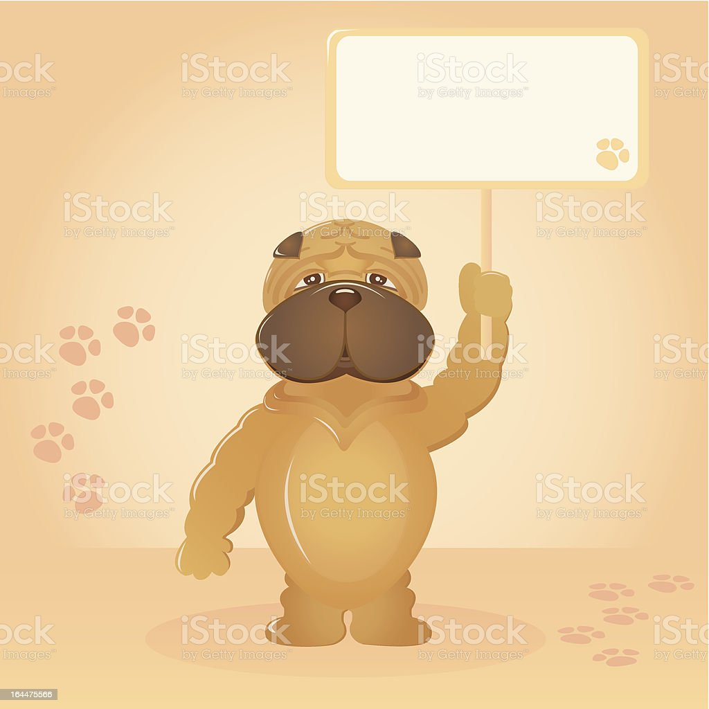 Message from a puppy (dark musk) royalty-free stock vector art