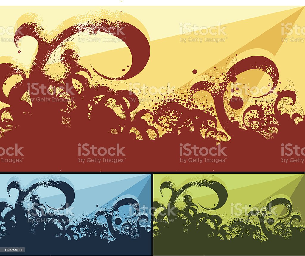 Messy Curves royalty-free stock vector art