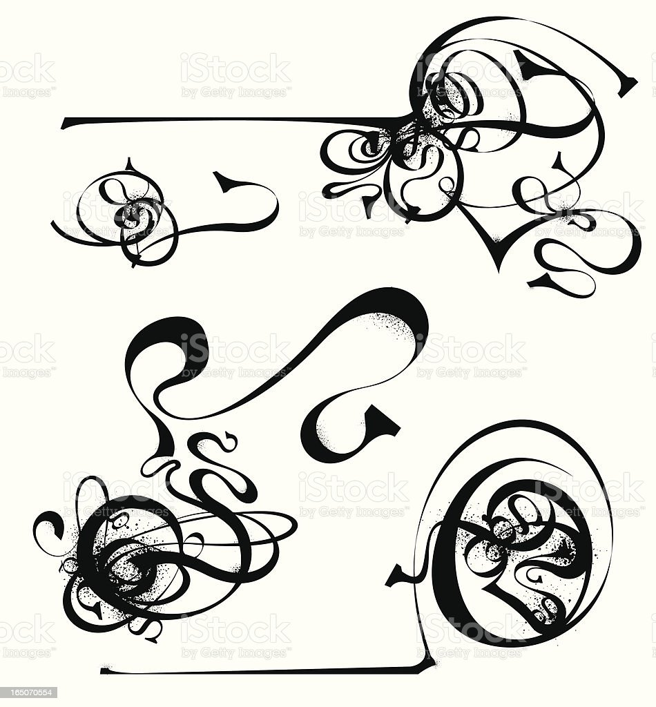 Messy Doodles royalty-free stock vector art