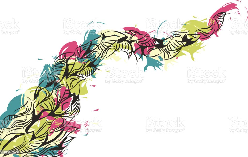 Messy Hand Drawn Painted Doodle Background royalty-free stock vector art