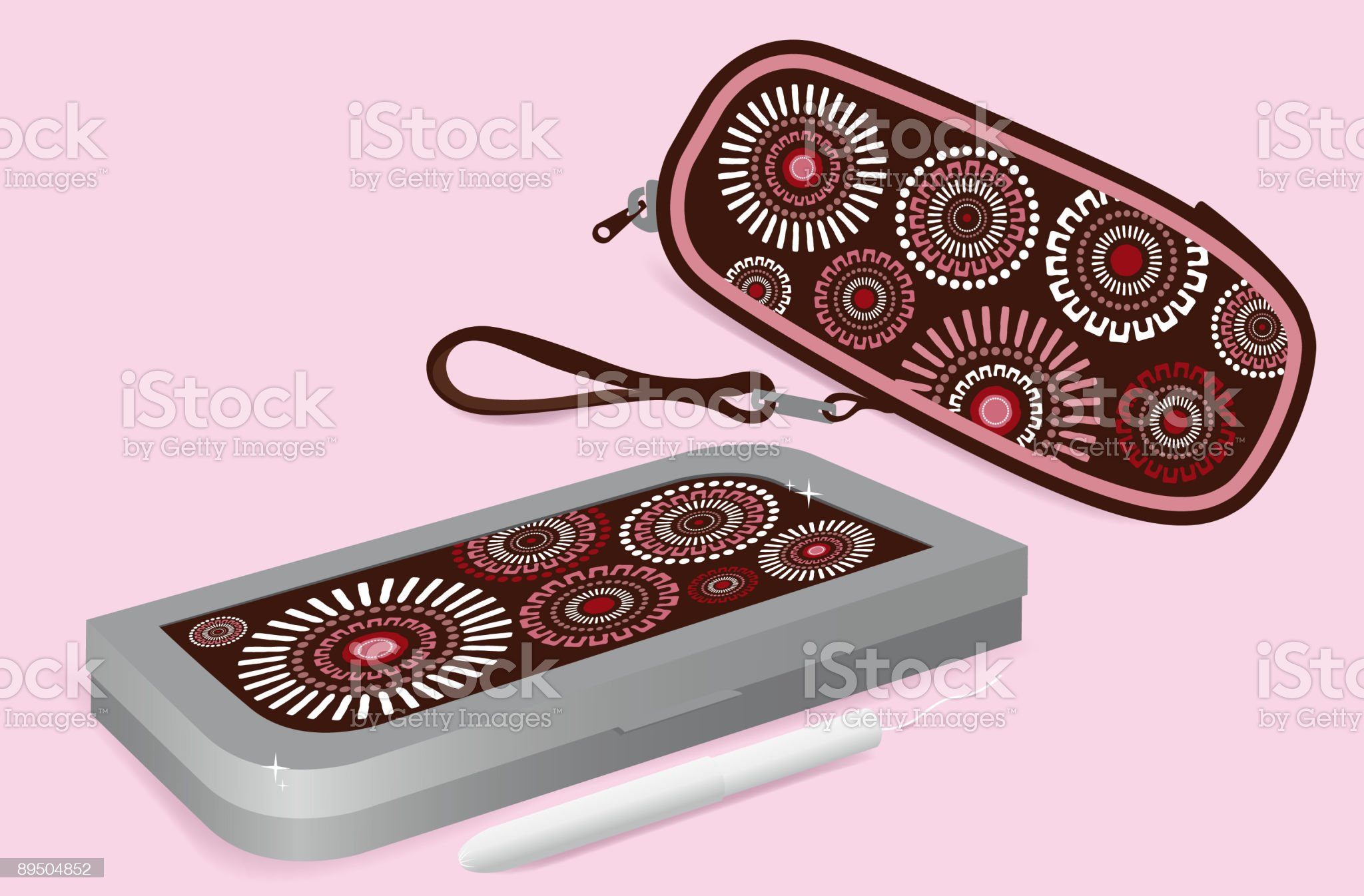 Metal and soft tampon cases royalty-free stock vector art