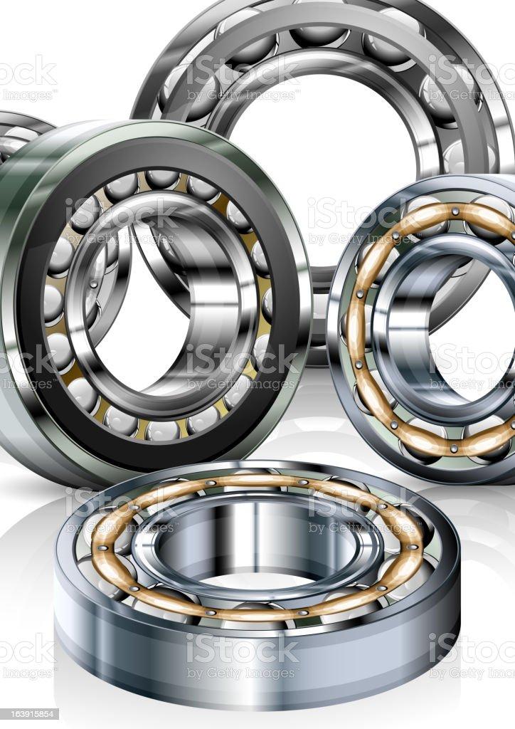 Metal bearings on white royalty-free stock vector art