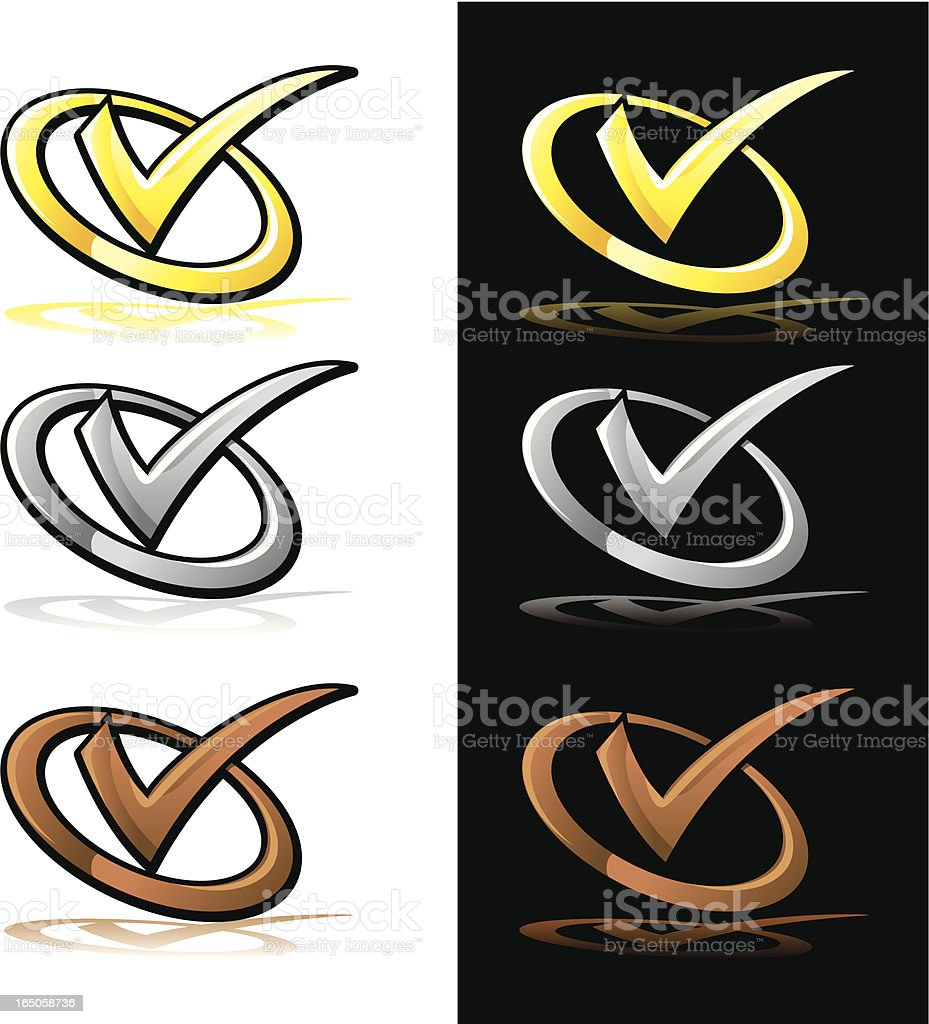 metal check royalty-free stock vector art