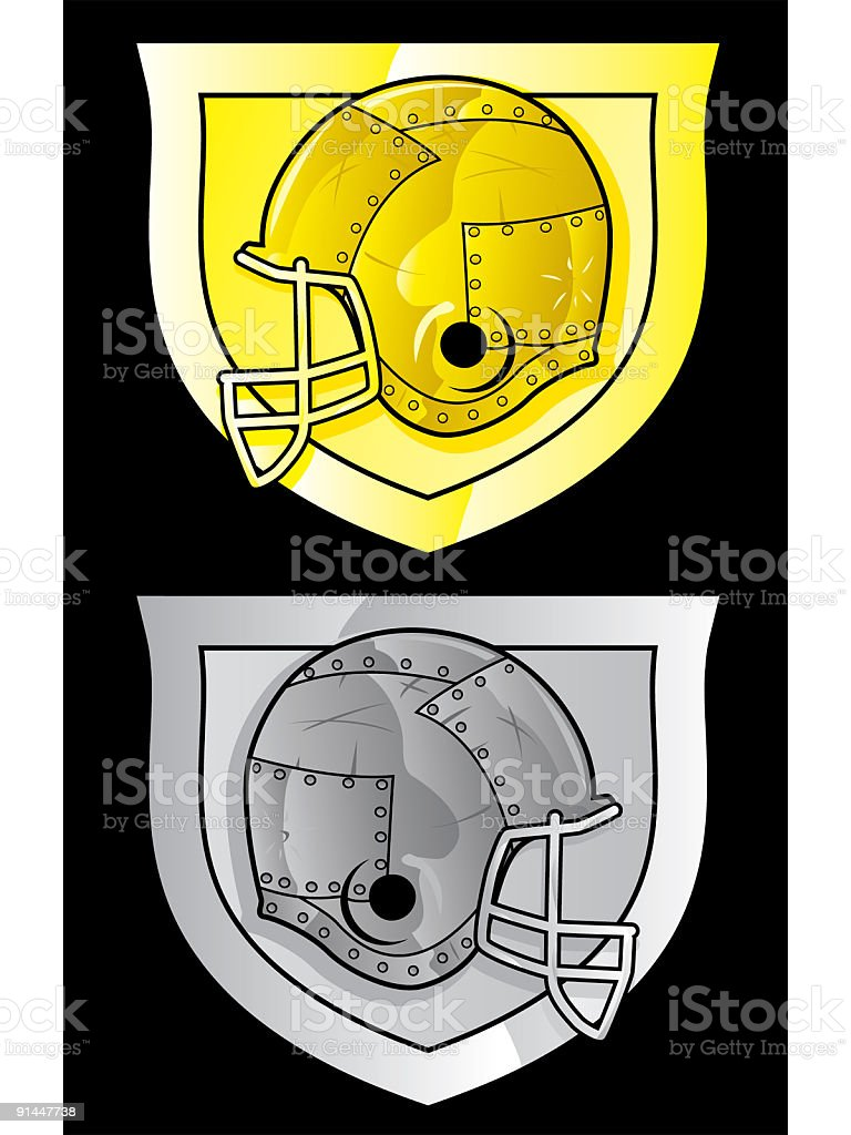 metal football vector art illustration