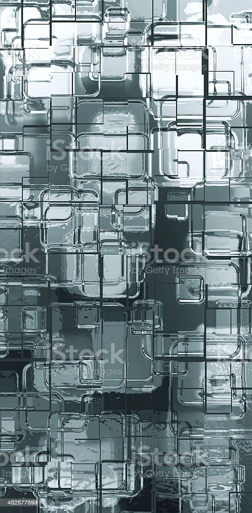 metal squares vector art illustration