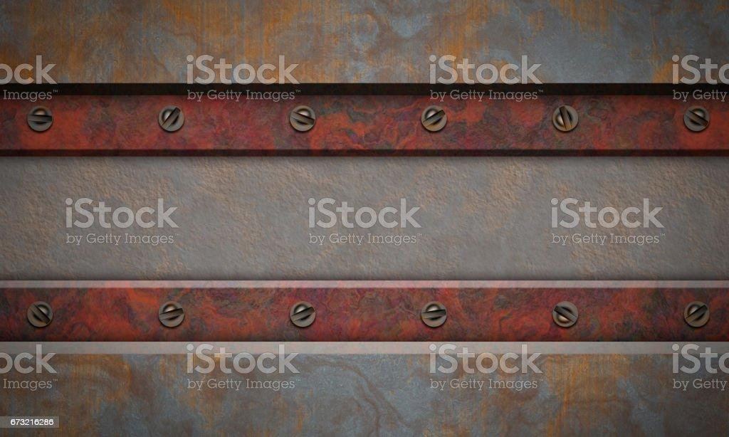 Metal textured background. vector art illustration