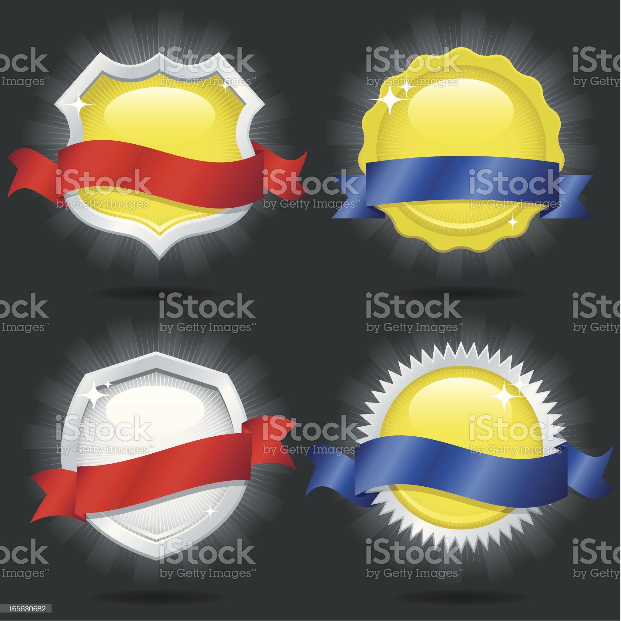 Metallic Emblems royalty-free stock vector art
